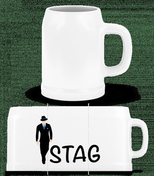 Stag - Beer Mug - White - Vorn