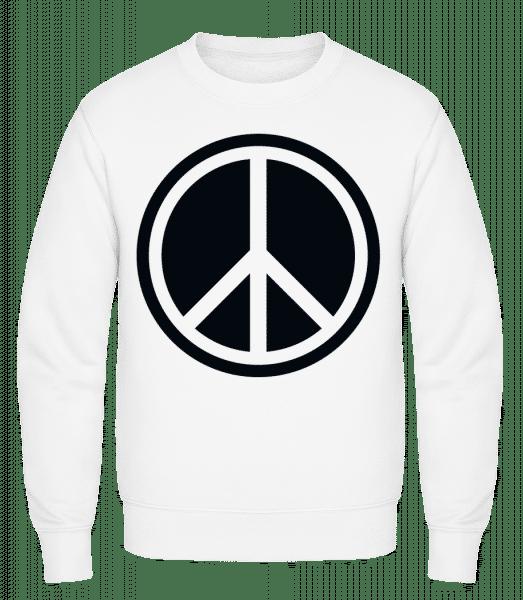 Peace Symbol - Classic Set-In Sweatshirt - White - Vorn