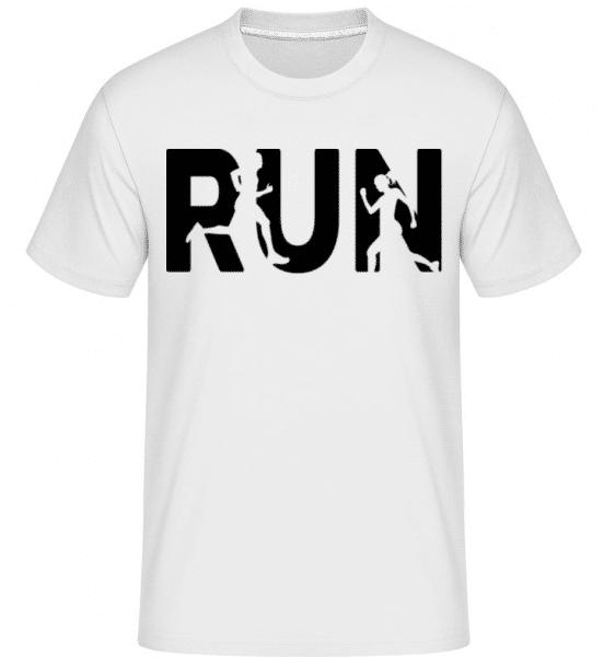 Run -  Shirtinator Men's T-Shirt - White - Front