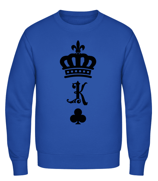 King Crown - Classic Set-In Sweatshirt - Royal Blue - Vorn