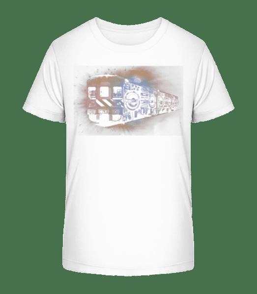 Ghetto Blaster Train - Kid's Premium Bio T-Shirt - White - Front