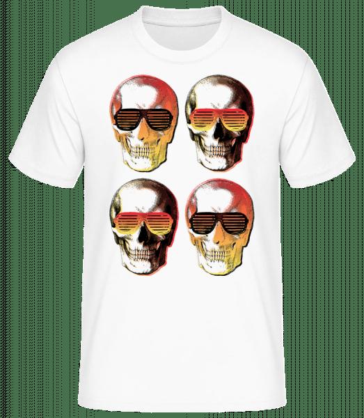 Štýlové lebky - Basic T-Shirt - Bílá - Predné