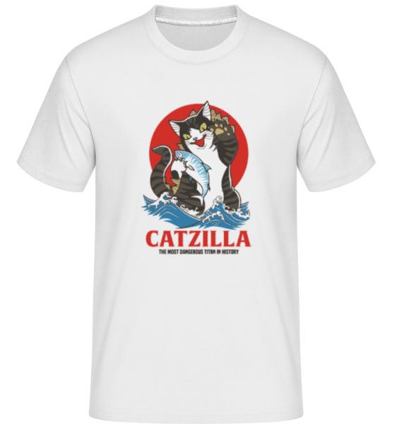 Catzilla -  Shirtinator Men's T-Shirt - White - Front