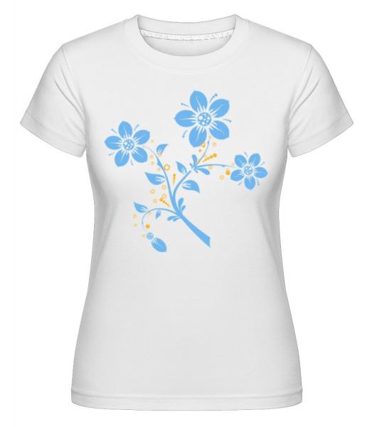 Flower Comic -  Shirtinator Women's T-Shirt - White - Front