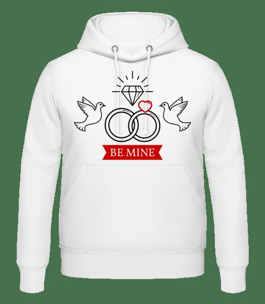 Valentine's Day Be Mine - Men's Hoodie - White - Vorn