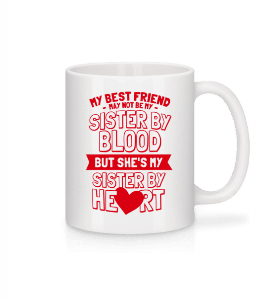 My Sister By Heart - Mug - White - Vorn