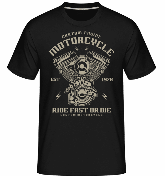 Custom Engine -  Shirtinator Men's T-Shirt - Black - Front