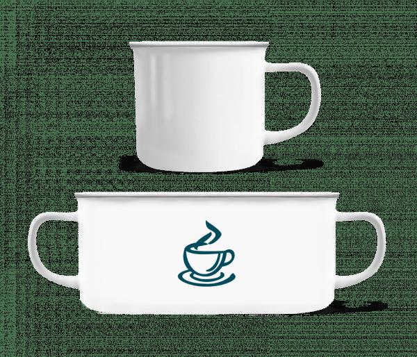 Espresso - Enamel-cup - White - Vorn