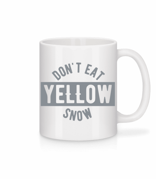 Don't Eat Yellow Snow - Mug - White - Vorn
