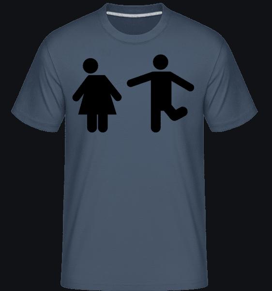 Woman And Man Logo -  Shirtinator Men's T-Shirt - Denim - Vorn