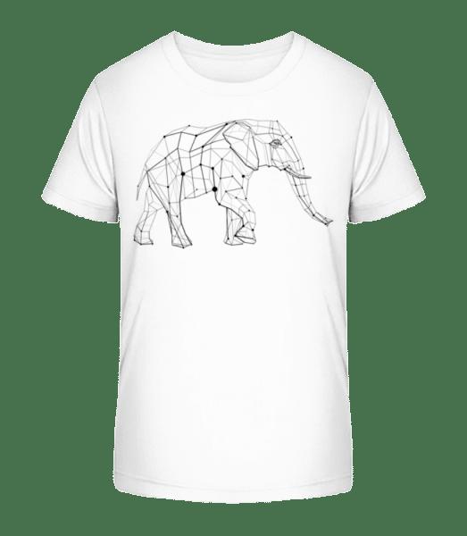 polygon Elephant - Detské Premium Bio tričko - Bílá - Napřed
