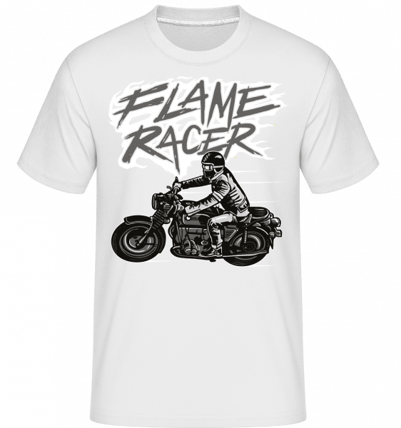 Flame Racer -  Shirtinator Men's T-Shirt - White - Front