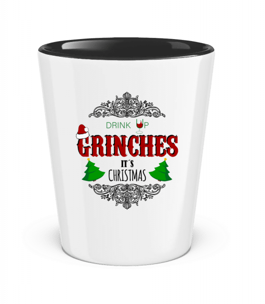 Drink up Grinches - Two-Toned Shot Glass - White - Vorn