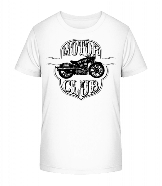 Motor Club Icon - Kid's Premium Bio T-Shirt - White - Vorn