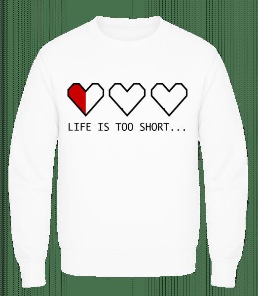 Life Is Too Short - Men's Sweatshirt AWDis - White - Vorn