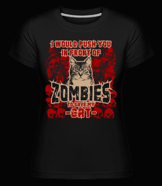 Save My Cat -  Shirtinator Women's T-Shirt - Black - Vorn