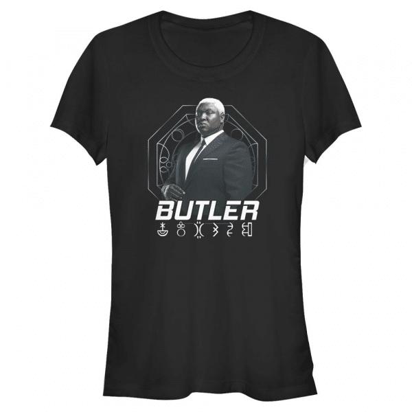 Butler Hero Shot - Disney Artemis Fowl - Women's T-Shirt - Black - Front