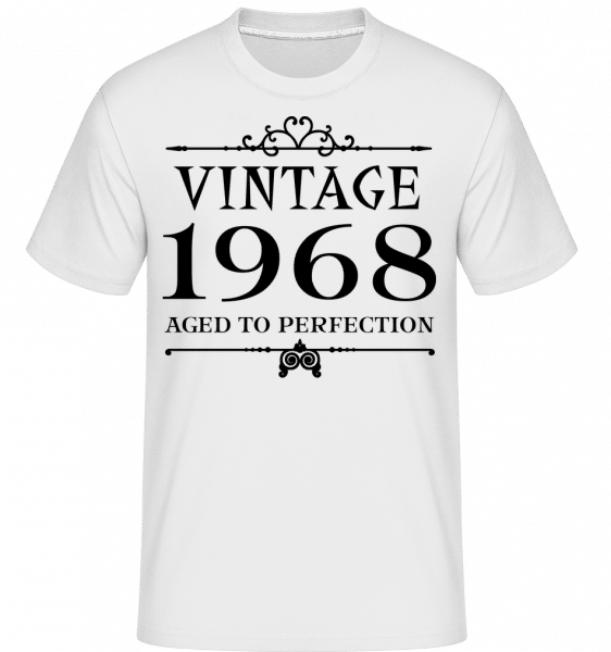 Vintage 1968 Perfection -  T-Shirt Shirtinator homme - Blanc - Vorn