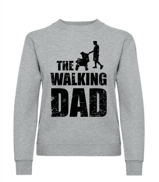 The Walking Dad - Frauen Pullover - Grau Meliert - Vorn