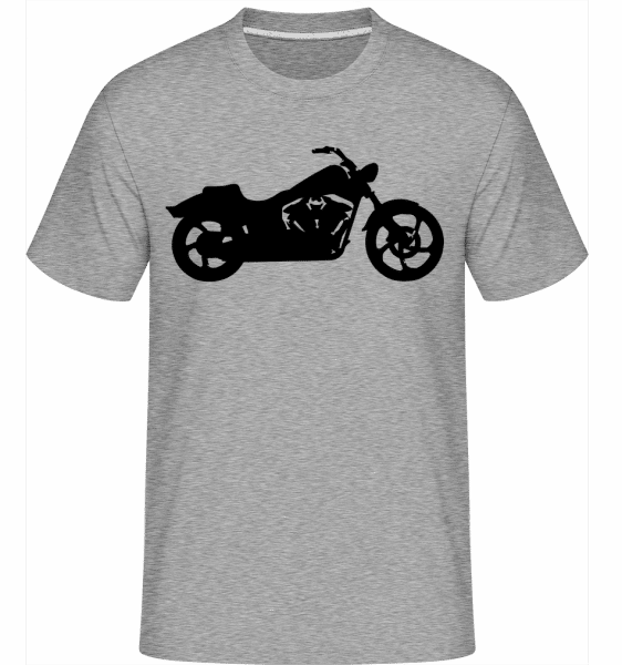 Motorcycle Shadow -  Shirtinator Men's T-Shirt - Heather grey - Vorn