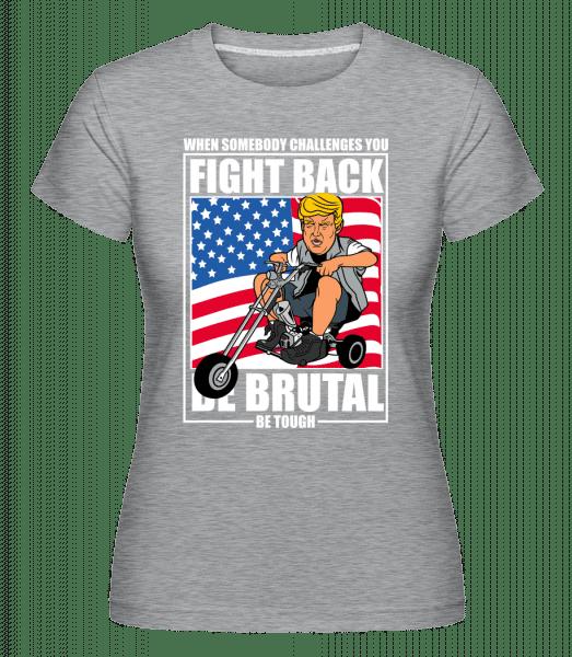 Trump Biker -  Shirtinator Women's T-Shirt - Heather grey - Vorn