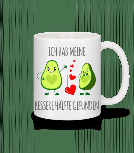 Avocado Love - Tasse - Weiß - Vorn