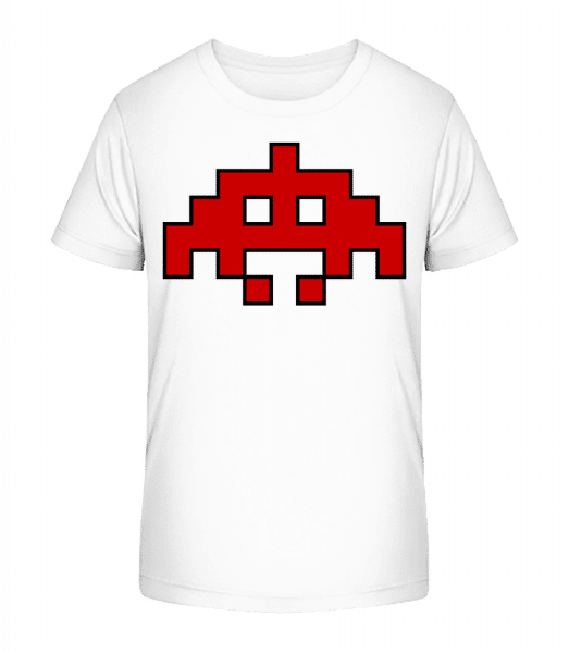 Pixel Monster Red - Kid's Premium Bio T-Shirt - White - Vorn