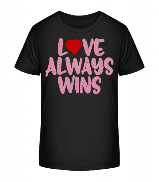 Love Always Wins - Kid's Premium Bio T-Shirt - Black - Vorn