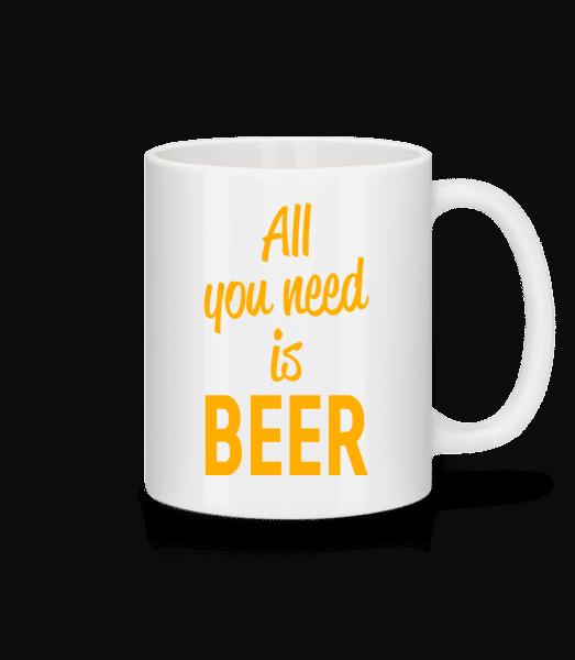 All You Need Is Beer - Keramický hrnček - Biela - Predné