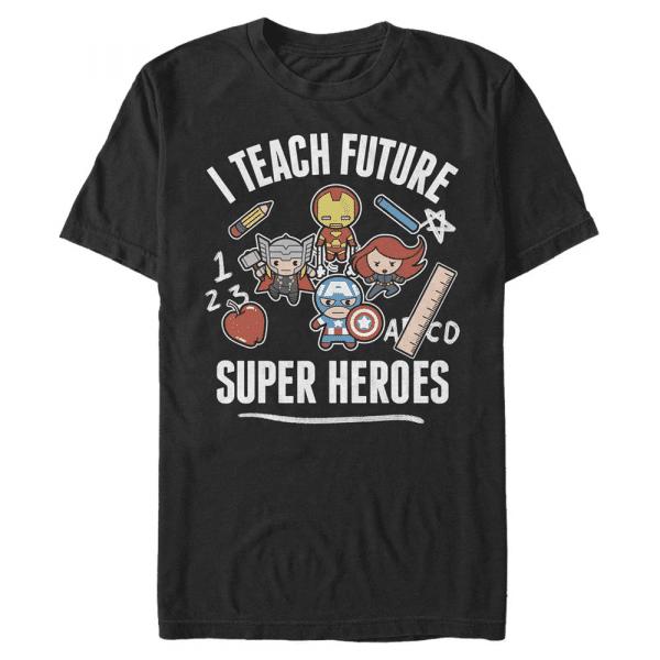 Teach Future Supers - Marvel Avengers - Men's T-Shirt - Black - Front