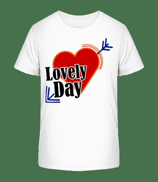 Lovely Day - Kid's Premium Bio T-Shirt - White - Vorn