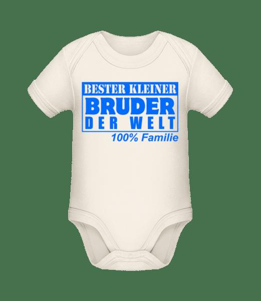 Bester Kleiner Bruder - Baby Bio Strampler - Creme - Vorn