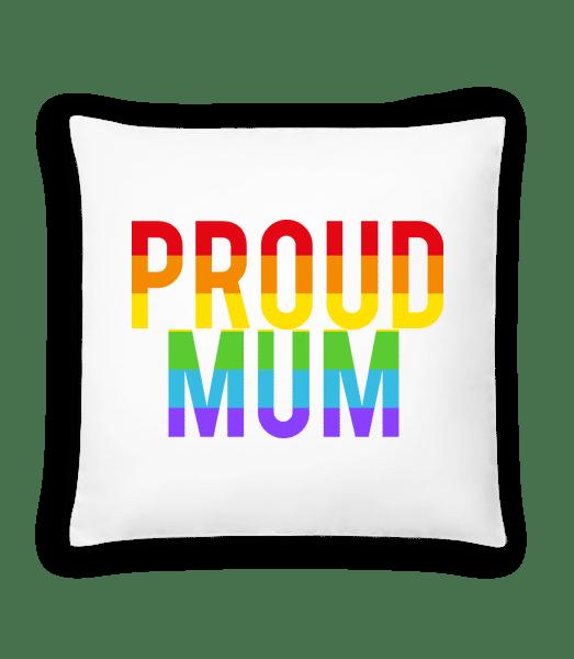 Proud Mum Rainbow - Kissen - Weiß - Vorn