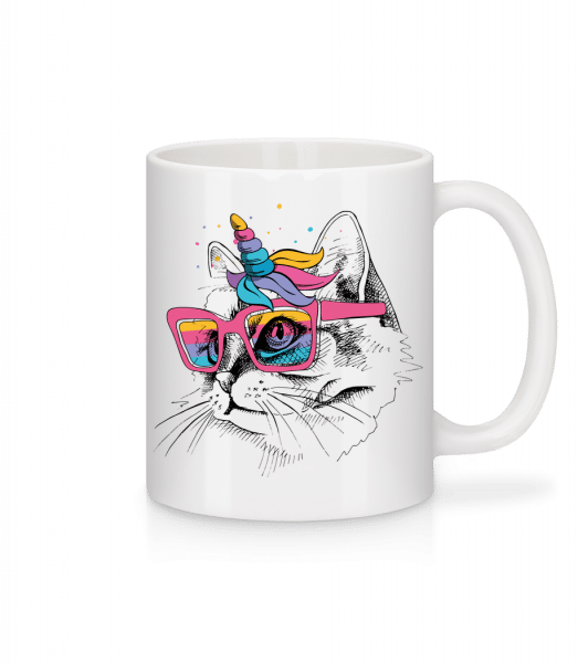 Unicorn Party Cat - Mug - White - Vorn