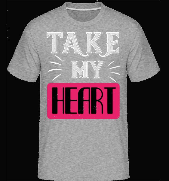 Take My Heart -  Shirtinator Men's T-Shirt - Heather grey - Vorn