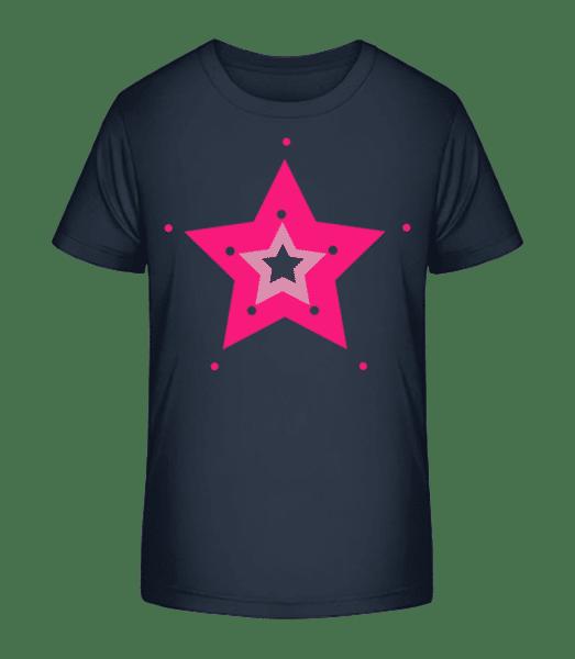 Pink Star - T-shirt bio Premium Enfant - Bleu marine - Devant