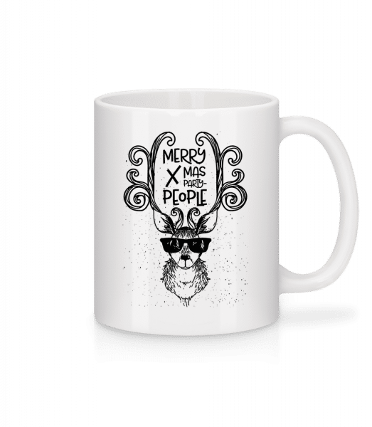 Merry Xmas Party People - Mug - White - Vorn