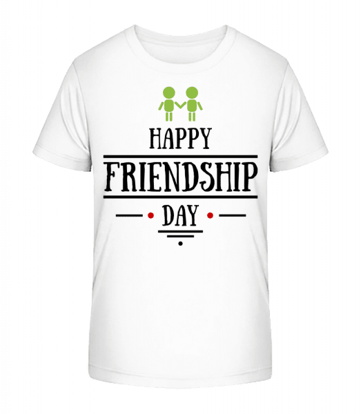 Happy Friendship Day - Kinder Premium Bio T-Shirt - Weiß - Vorn