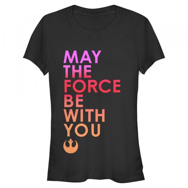 Forced Text - Star Wars Last Jedi - Women's T-Shirt - Black - Front