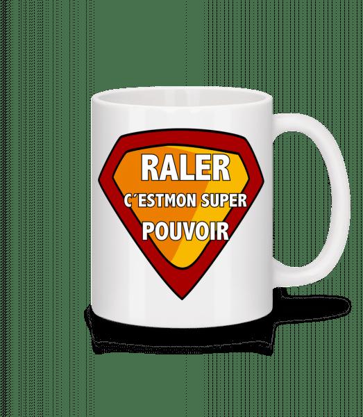 Raler C´Esmon Super Pouvoir - Mug en céramique blanc - Blanc - Devant