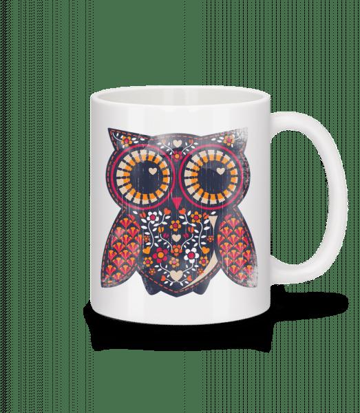 Art Owl - Mug - White - Front