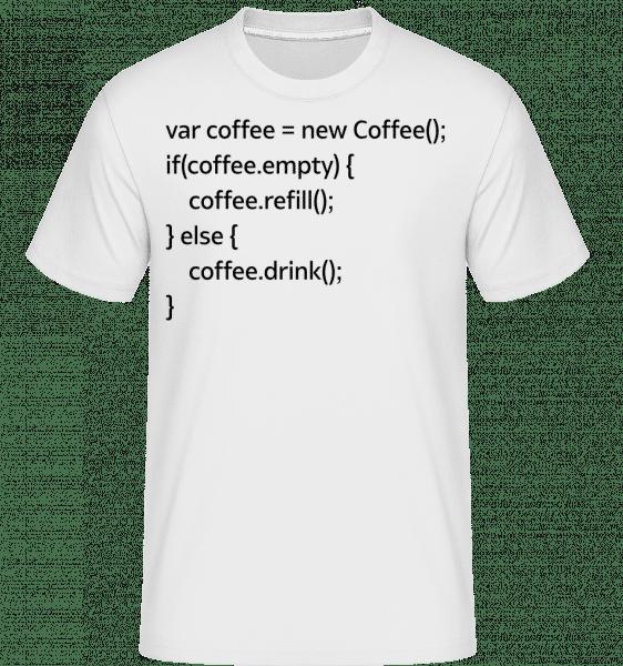PHP Coffee -  Shirtinator tričko pre pánov - Biela - Predné