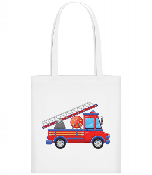 Fire Truck Kids - Carrier Bag - White - Vorn