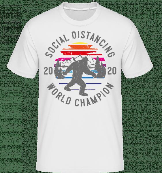 Social Distancing Champion 2020 -  Shirtinator Men's T-Shirt - White - Front