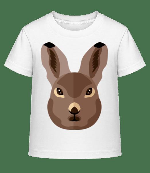 Bunny Comic Shadow - Kid's Shirtinator T-Shirt - White - Vorn