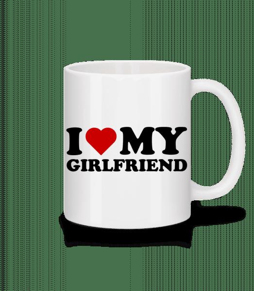 I Love My Girlfriend - Mug - White - Vorn