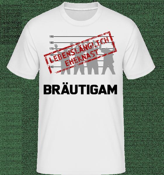 Häftling Bräutigam - Shirtinator Männer T-Shirt - Weiß - Vorn