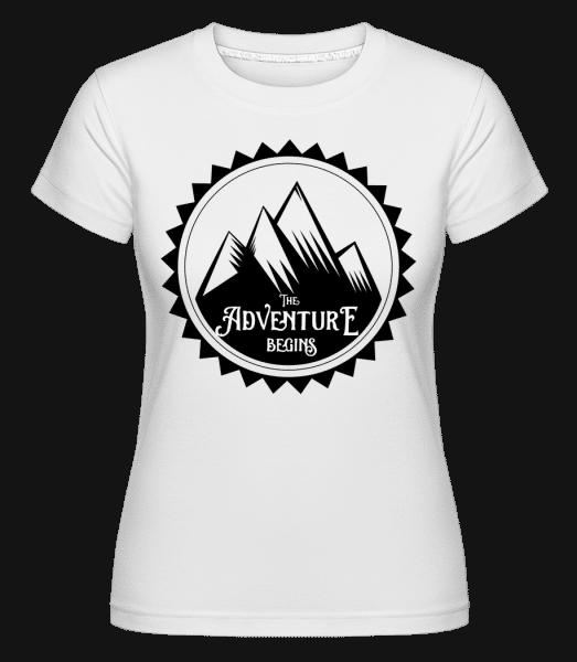 Climbing The Adventure Begins -  Shirtinator Women's T-Shirt - White - Vorn