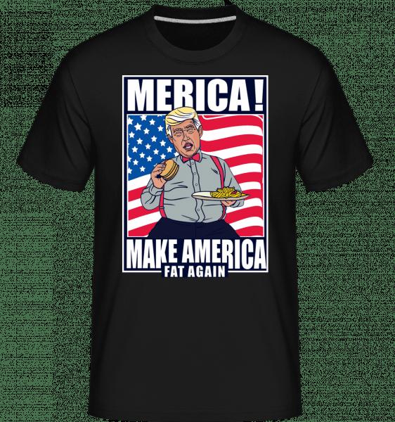 Trump Burger -  Shirtinator Men's T-Shirt - Black - Front