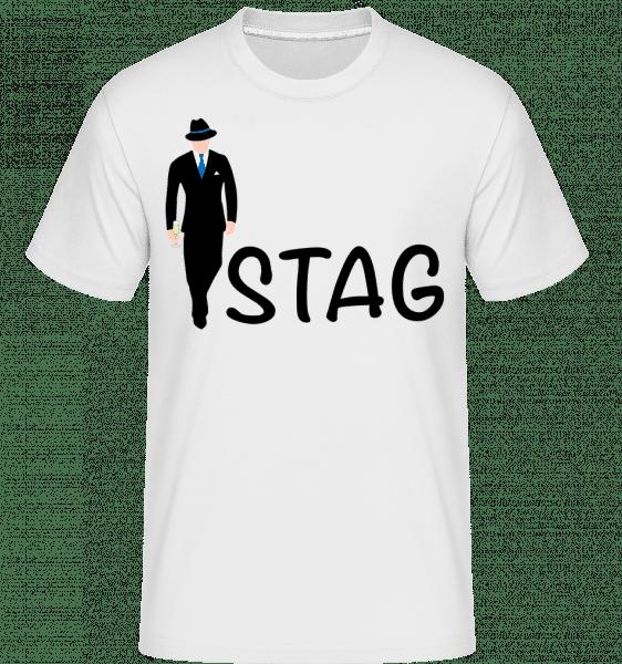 Stag -  Shirtinator Men's T-Shirt - White - Vorn